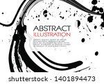 ink brush stroke background.... | Shutterstock .eps vector #1401894473