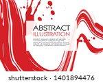 ink brush stroke background.... | Shutterstock .eps vector #1401894476