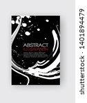 ink brush stroke background.... | Shutterstock .eps vector #1401894479