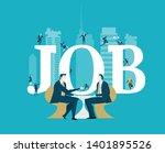 job interview.  two business...   Shutterstock .eps vector #1401895526