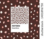 set. leopard print. vector... | Shutterstock .eps vector #1401896750