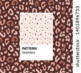 set. leopard print. vector... | Shutterstock .eps vector #1401896753