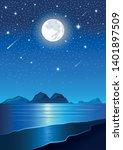 vector image  beautiful beach...   Shutterstock .eps vector #1401897509