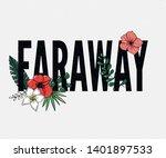 faraway slogan. perfect for pin ... | Shutterstock .eps vector #1401897533