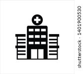 hospital icon flat design... | Shutterstock .eps vector #1401900530