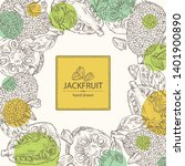 background with jackfruit ... | Shutterstock .eps vector #1401900890