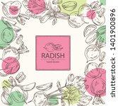 backgroumd with radish  full... | Shutterstock .eps vector #1401900896