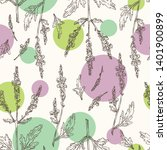 seamless pattern with verbena ... | Shutterstock .eps vector #1401900899
