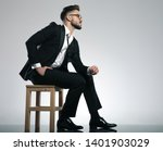 concerned young man looking to...   Shutterstock . vector #1401903029