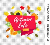 autumn sale vector banner or... | Shutterstock .eps vector #1401909683
