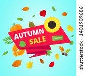 autumn sale vector banner or... | Shutterstock .eps vector #1401909686