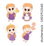 cute illustration with a little ... | Shutterstock .eps vector #1401913160