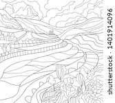 coloring illustration with... | Shutterstock .eps vector #1401914096