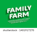 vector bright sign family farm. ... | Shutterstock .eps vector #1401917270