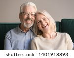 head shot laughing retirees... | Shutterstock . vector #1401918893