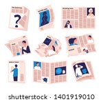 periods newspapers. modern... | Shutterstock .eps vector #1401919010