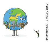 planet earth with animals... | Shutterstock .eps vector #1401921059