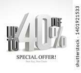 up to 40  off special offer... | Shutterstock .eps vector #1401921533