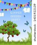summer garden party poster... | Shutterstock .eps vector #1401922139