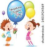 international childrens day... | Shutterstock .eps vector #1401924569