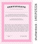 pink diploma template or... | Shutterstock .eps vector #1401925226