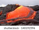 Lava Flow In Hawaii