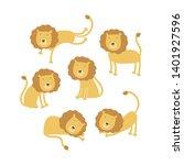 vector scandinavian animal... | Shutterstock .eps vector #1401927596