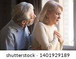Close Up Focus On Elderly Wife...