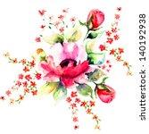 Summer Illustration Of Roses...