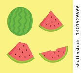 watermelon vector illustration... | Shutterstock .eps vector #1401929699