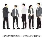 set of silhouettes of men and... | Shutterstock .eps vector #1401931049