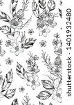 black ink tattoo composition....   Shutterstock . vector #1401932480