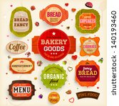 set of retro bakery labels ... | Shutterstock .eps vector #140193460