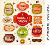 set of retro bakery labels ... | Shutterstock .eps vector #140193460