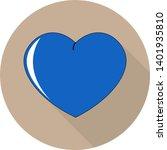 flat illustration of blue heart ... | Shutterstock .eps vector #1401935810