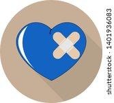 flat illustration of blue heart ... | Shutterstock .eps vector #1401936083