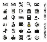 business and finance icons set... | Shutterstock .eps vector #1401938096