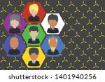 picture frames chief executive... | Shutterstock .eps vector #1401940256