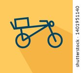 bicycle with a box on the trunk ...   Shutterstock .eps vector #1401951140
