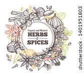 hand drawn vector herbs and...   Shutterstock .eps vector #1401951803
