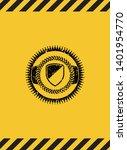 armor icon inside warning sign  ...   Shutterstock .eps vector #1401954770