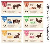 vector butcher's shop modern... | Shutterstock .eps vector #1401966086