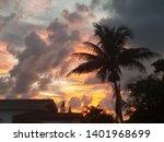 peaceful beach sunrise  sunsets ... | Shutterstock . vector #1401968699