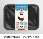 vector meat packaging... | Shutterstock .eps vector #1401974156