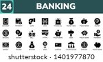 banking icon set. 24 filled...   Shutterstock .eps vector #1401977870