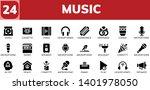 music icon set. 24 filled music ...   Shutterstock .eps vector #1401978050
