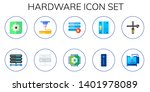 hardware icon set. 10 flat... | Shutterstock .eps vector #1401978089