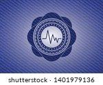 electrocardiogram icon inside... | Shutterstock .eps vector #1401979136