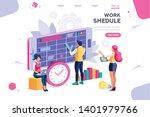 week schedule  daily plan  work ... | Shutterstock .eps vector #1401979766
