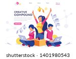creative complex on computer.... | Shutterstock .eps vector #1401980543
